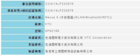 Android Kade - Nexus 9